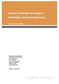 Internships and work experience guide