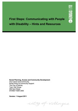 Communicating with people with disability guide